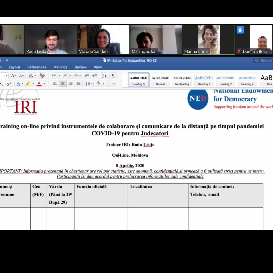 Training on-line privind instrumentele de colaborare și comunicare de la distanță pe timpul pandemiei COVID-19